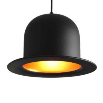 Zwarte Bolhoed Hanglamp