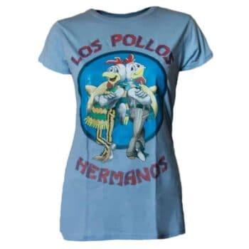 Los Pollos Hermanos Dames Shirt Licht blauw