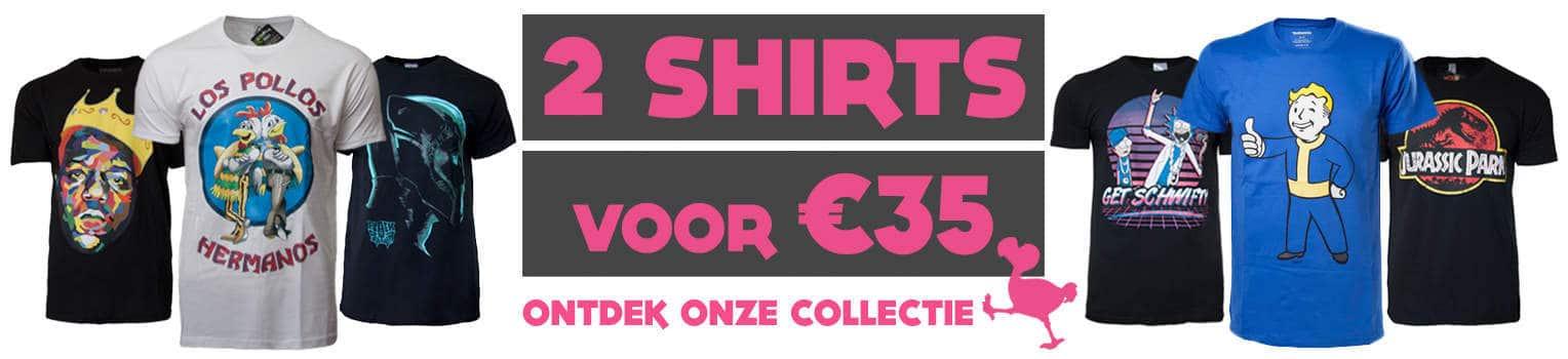 PrutsShop Shirts Merchandise 2 voor 35 Euro