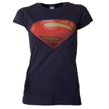 Superman Dames Shirt Man Of Steel Logo