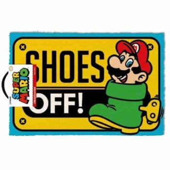 Super Mario Deurmat – Shoes Off!