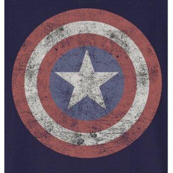 Captain America Kindershirt - Marvel; Trots als een echte superheld zullen ze rond lopen met dit blauwe officiële Captain America shirt van Marvel.