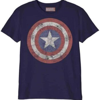 Captain America Kindershirt – Marvel Grunge Shield