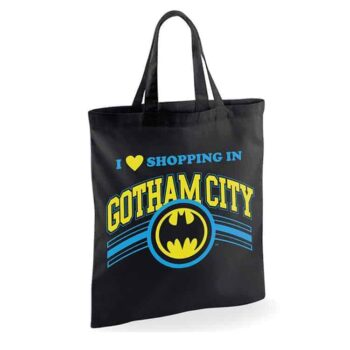 Batman Linnen Tas – Shopping In Gotham