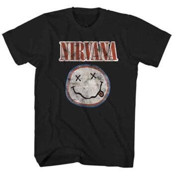 Nirvana Shirt – Smiley Distressed Logo