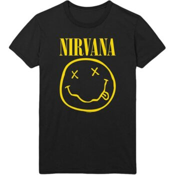 Nirvana shirt – Smiley with Back Print