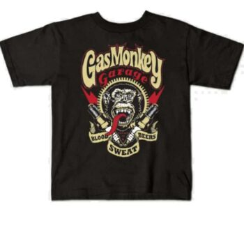 Gas Monkey kindershirt – Blood Sweat and Bears Red